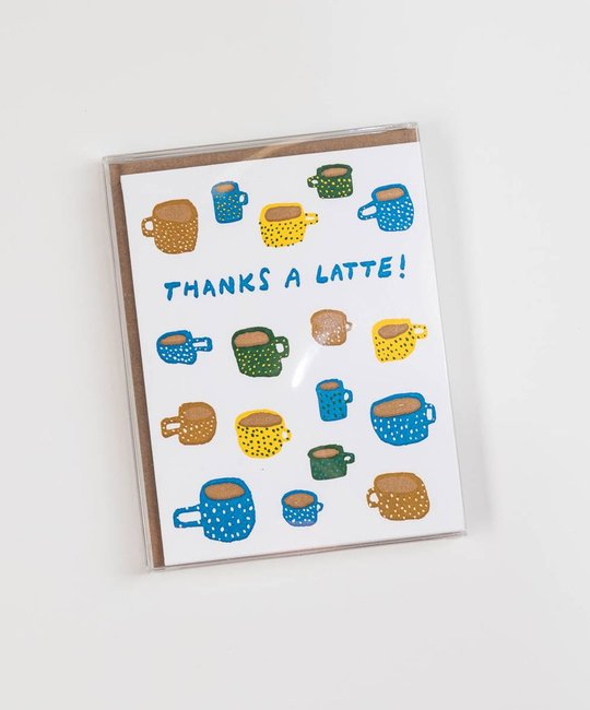 Hammerpress HANSTY0011 - Thanks-a-Latte Note Set, Box of 6