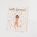 Red Cap Cards RCCGCBI0007 - Birthday Suit Foil