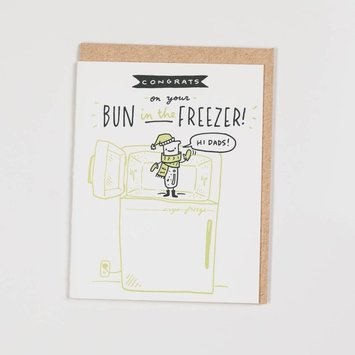 Ladyfingers Letterpress - LF LFGCBA0009 - Hi Dads  -  Bun in the Freezer
