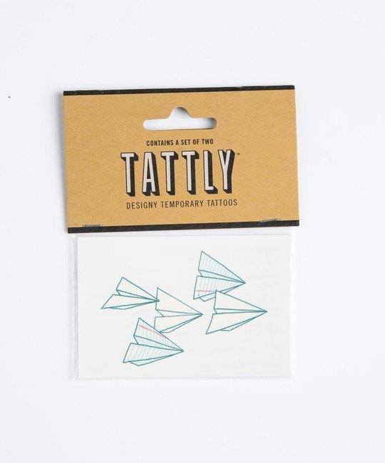 tattly Paper Planes Temporary Tattoos