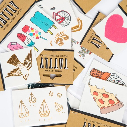 tattly Paper Planes Temporary Tattoos