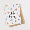 Our Heiday Hello Dear Baby Card