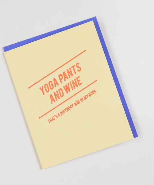 farewell paperie FWPGCBI0013 - Yoga Pants and Wine