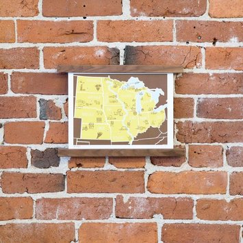 Brainstorm Print and Design - BS BS PRSM - American Atlas: The Midwest, 8 x 10 inch