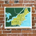 Brainstorm Print and Design BS PRLA - American Atlas: The Northeast, 16 x 20 inch