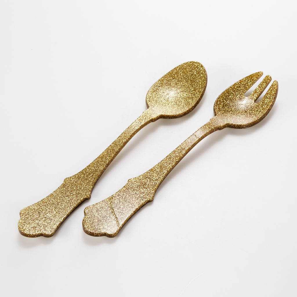 Sabre SABHG - Salad set of 2, Glitter Gold