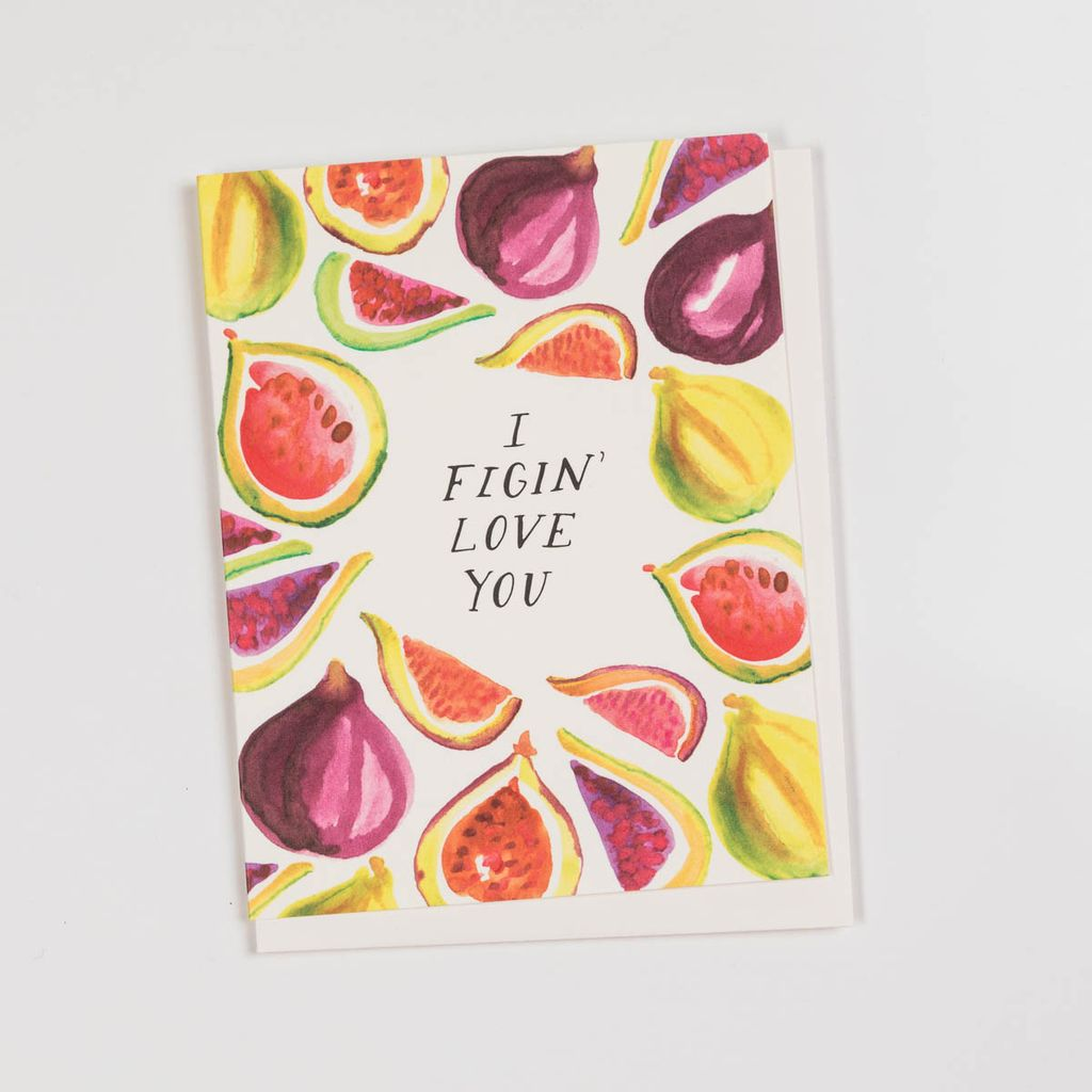 Antiquaria Figin' Love You Card