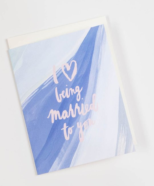 Our Heiday Love Being Married to You Card