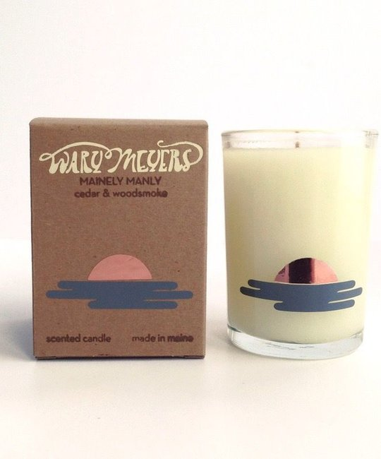 Wary Meyers WAM CA - Mainely Manly Candle (Cedar + Woodsmoke)