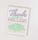 BISON bookbinding and letterpress BBL GC - Thanks a Million