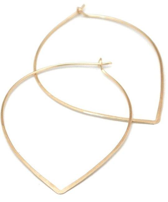 Favor Jewelry - FJ Petal Hoop Earrings, Gold
