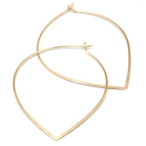 Favor Jewelry Petal Hoop Earrings, Gold