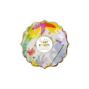 Meri Meri MEM PS - Painted Flowers Small Plates 8 pk