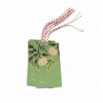 Rifle Paper Co RP GT - Emerald Peonies Gift Tag, Set of 10