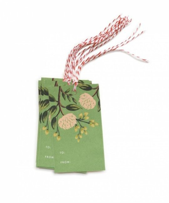 Rifle Paper Co. RP GT - Emerald Peonies Gift Tag, Set of 10