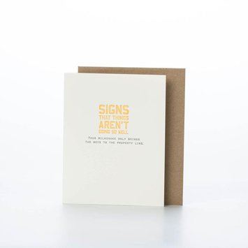 Sapling Press Milkshake Card