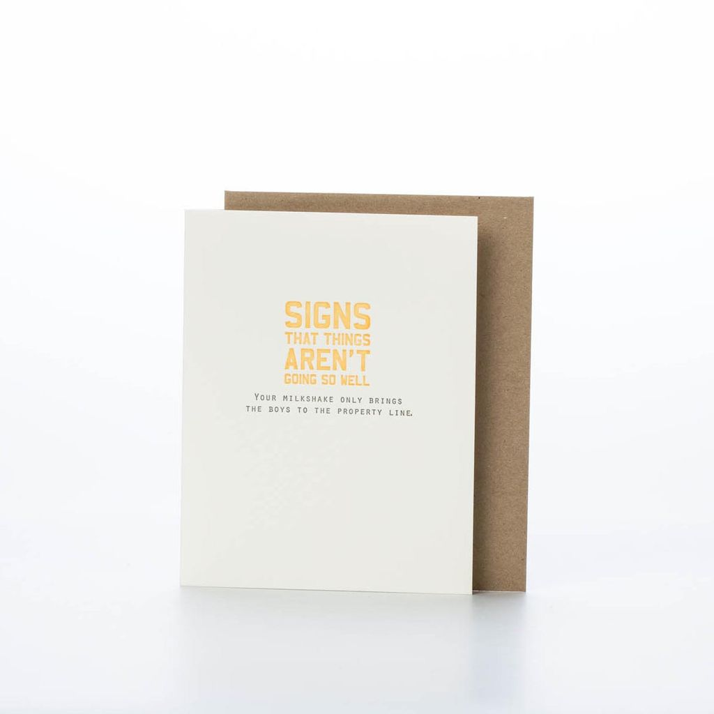 Sapling Press Milkshake Card
