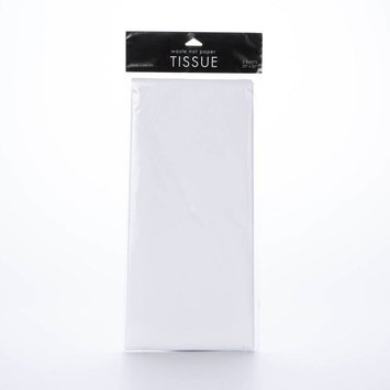 Waste Not Paper WNTP - white tissue, 8 sheets