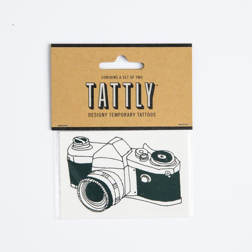 tattly Camera Temporary Tattoos