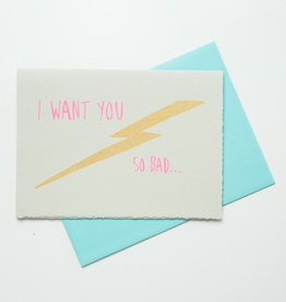 Gold Teeth Brooklyn Lightning Bolt Love Card