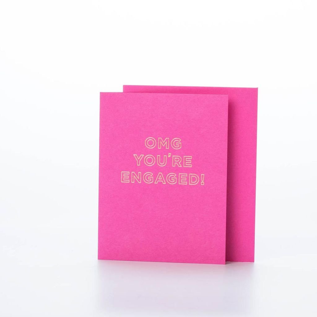 The Social Type OMG You're Engaged! Card