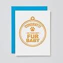 farewell paperie New Fur Baby Card