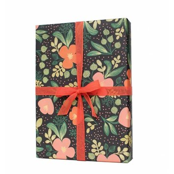 Rifle Paper Co. Midnight Floral Wrap Sheet