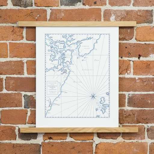 quail lane press QLP PR - 12x16 Inch portsmouth map