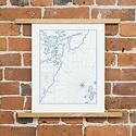 Quail Lane Press - QLP Portsmouth Harbor Letterpress Map Print