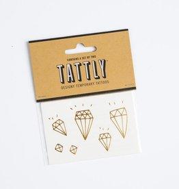tattly TA LG - Gold Diamonds Tat