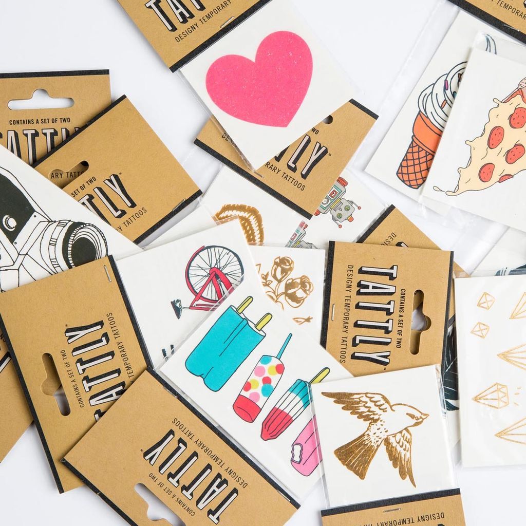 tattly Gold Diamonds Temporary Tattoos