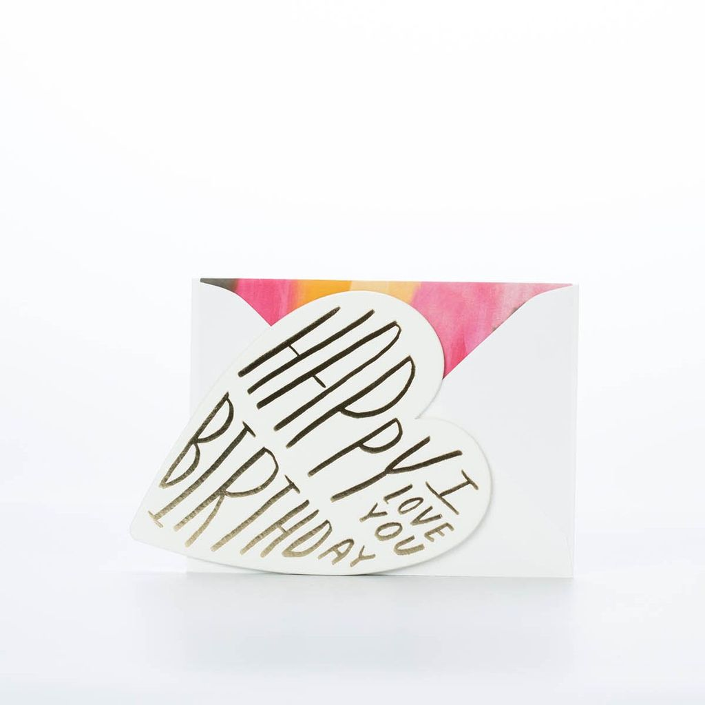 moglea I Love You Birthday Heart Card