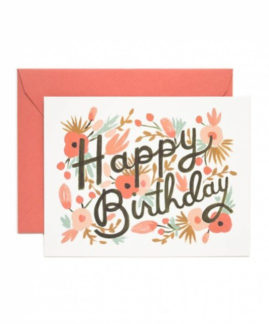 Rifle Paper Co. Floral Burst Birthday Card