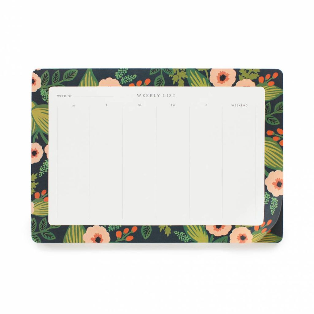 Rifle Paper Co. Jardin Weekly Desk Pad