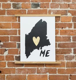 Idlewild Co. IDPR - ME Home is Where the Heart is print, 13 Inch x 18 Inch