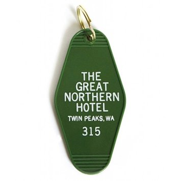 Greenwich Letterpress Great Northern Hotel Twin Peaks Vintage Keychain