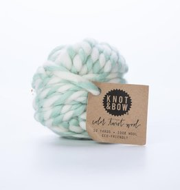 knot and bow KAB RI -Mint Color Twist Wool
