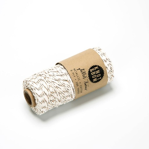 knot and bow Copper Metallic Twine