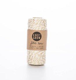 knot and bow KAB RI - natural/gold twine