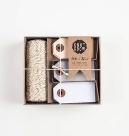 knot and bow KAB RI - Twine +Tag Trio set, gold neutal