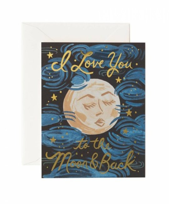 Rifle Paper Co - RP Love You to the Moon and Back Greeting Card