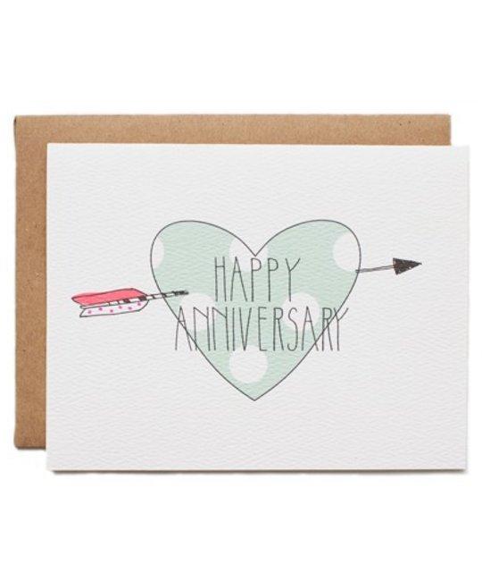 Hartland Brooklyn Anniversary Heart Card