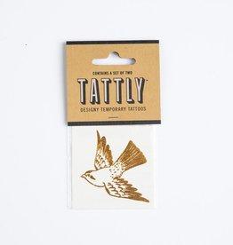 tattly TA LG - Cartolina Bird Gold Tat