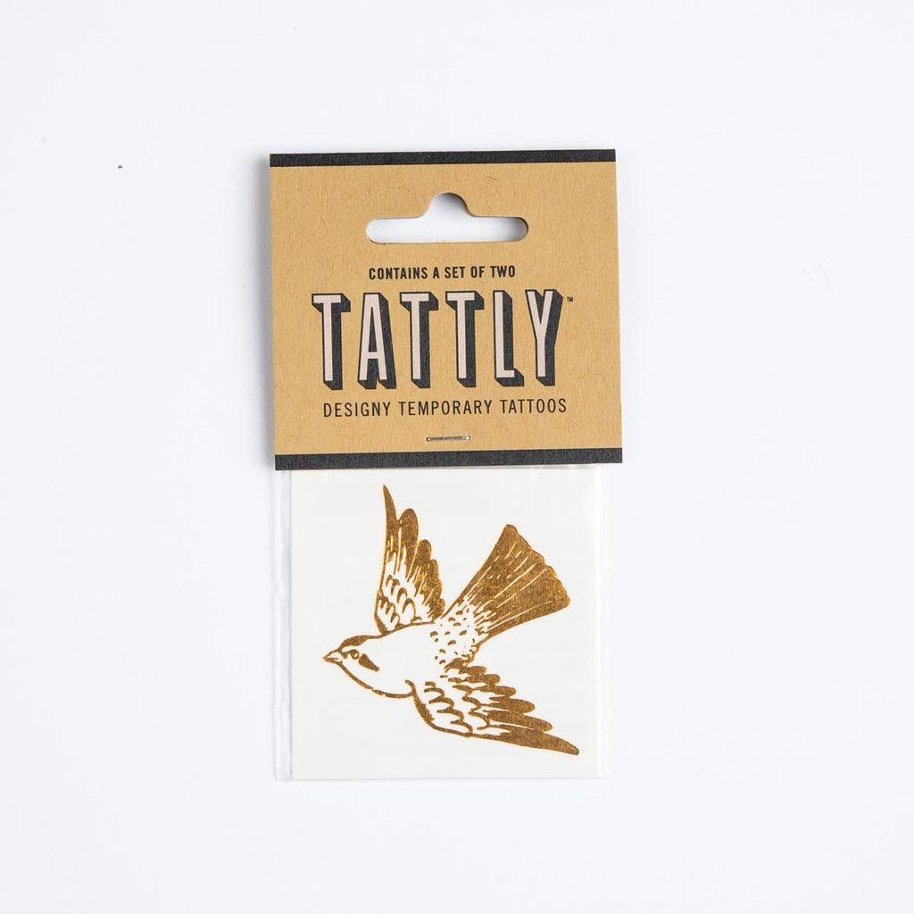 tattly Gold Bird Temporary Tattoos