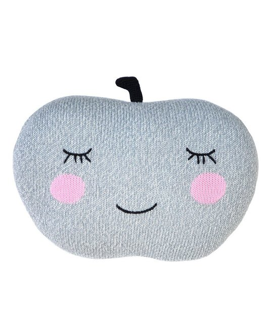 Blabla Grey Apple Knit Pillow