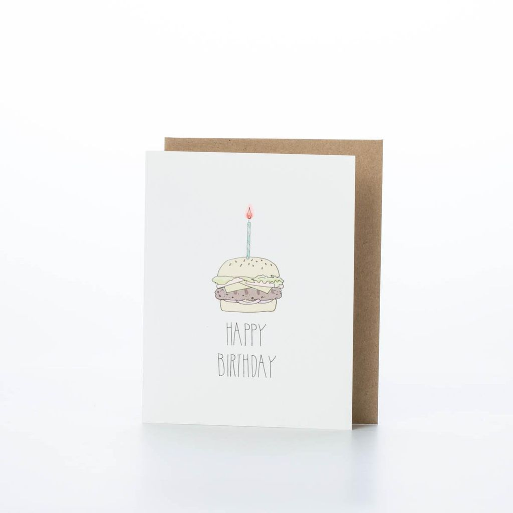 Hartland Brooklyn HARGCBI0006 - Birthday Burger Card