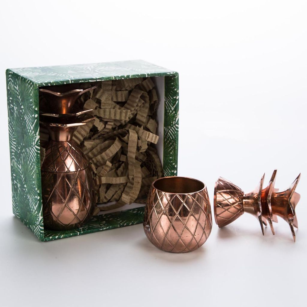 w and p design WP LG - Copper Pineapple Shot glass Set of 2