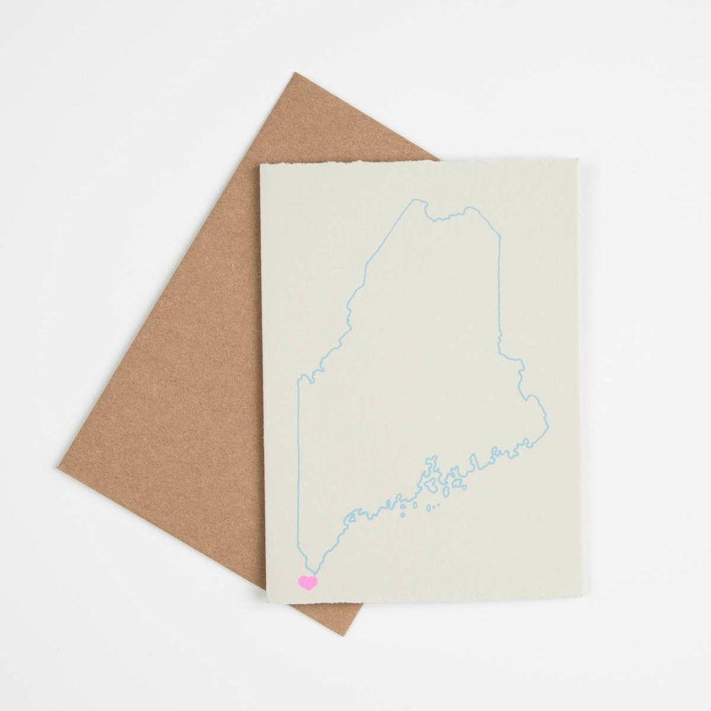 Gold Teeth Brooklyn Maine State Love Card