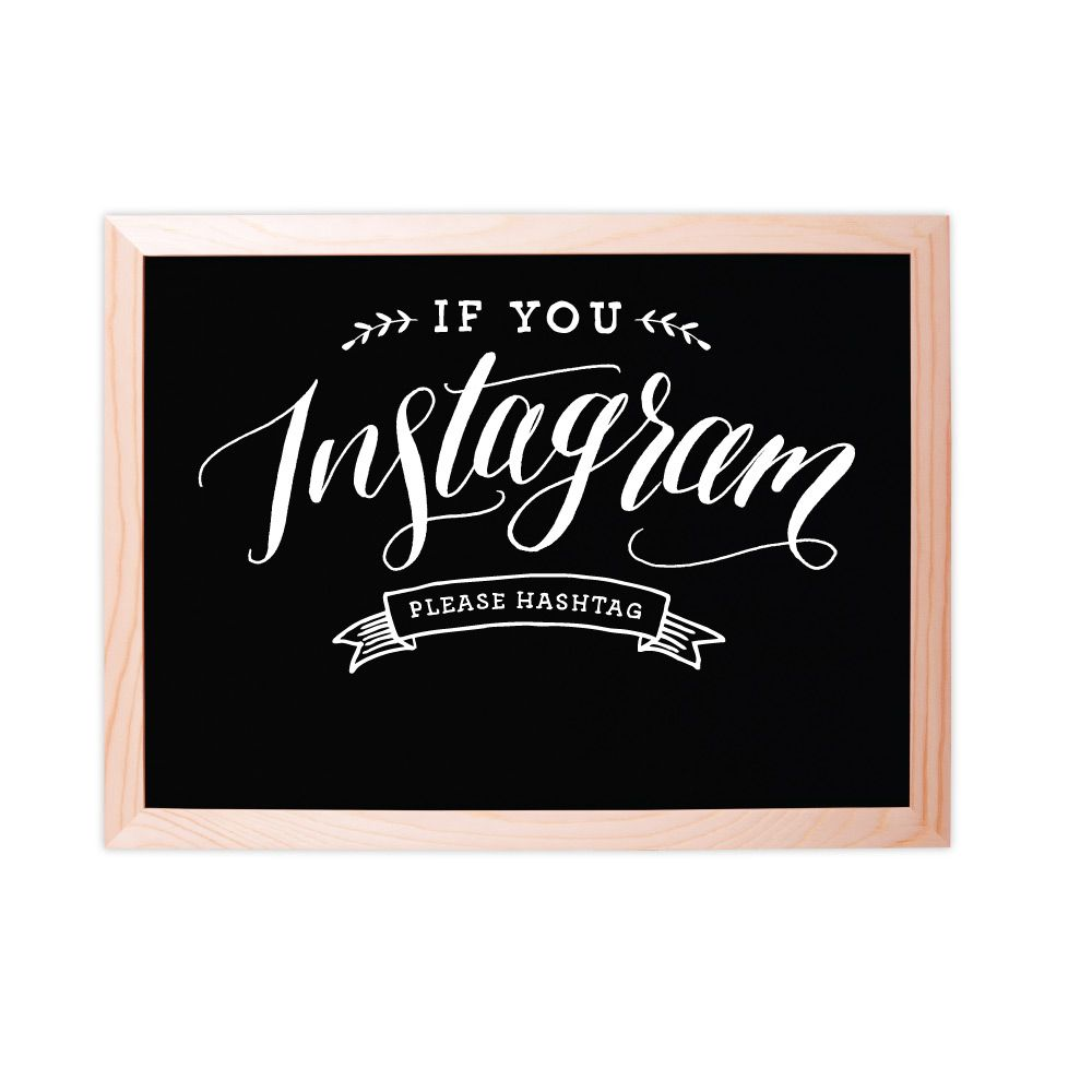 Fox and Fallow Instagram Hashtag Chalkboard Sign
