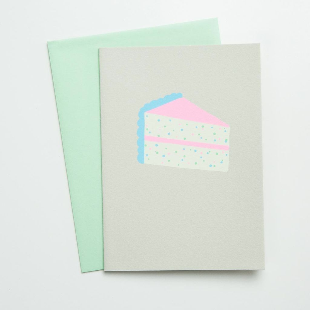 Gold Teeth Brooklyn Slice of Cake Birthday Card